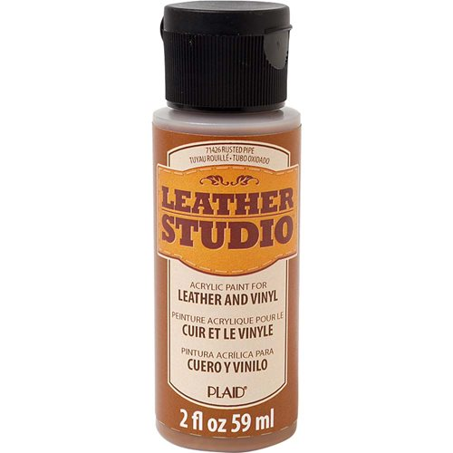 Leather Studio™ Leather & Vinyl Paint Colors - Rusted Pipe, 2 oz.
