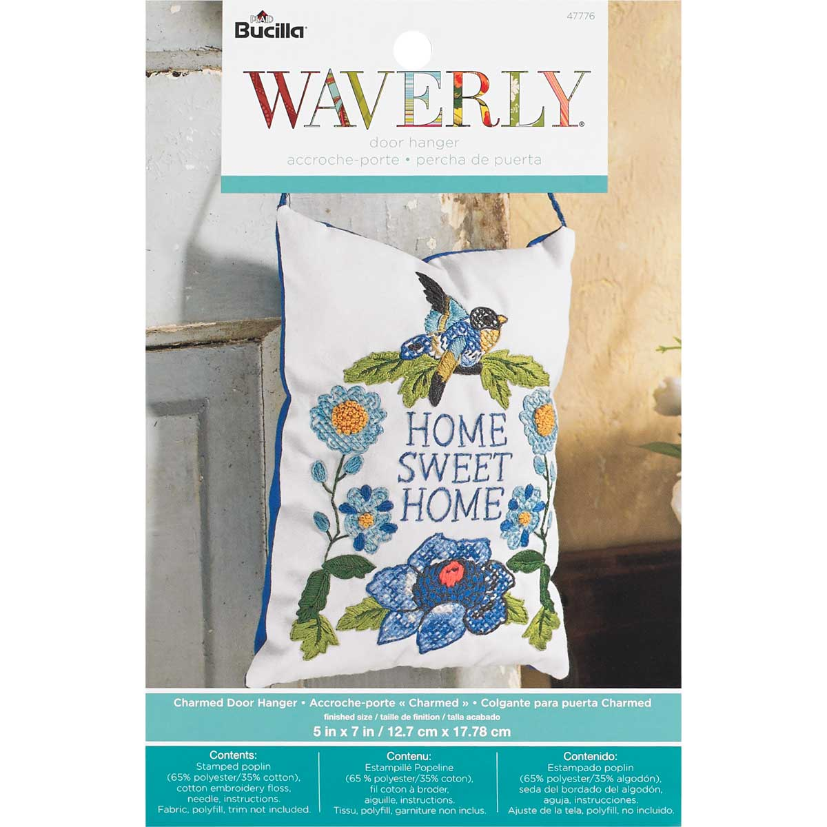Bucilla Waverly Charmed Collection Stamped Door Hanger