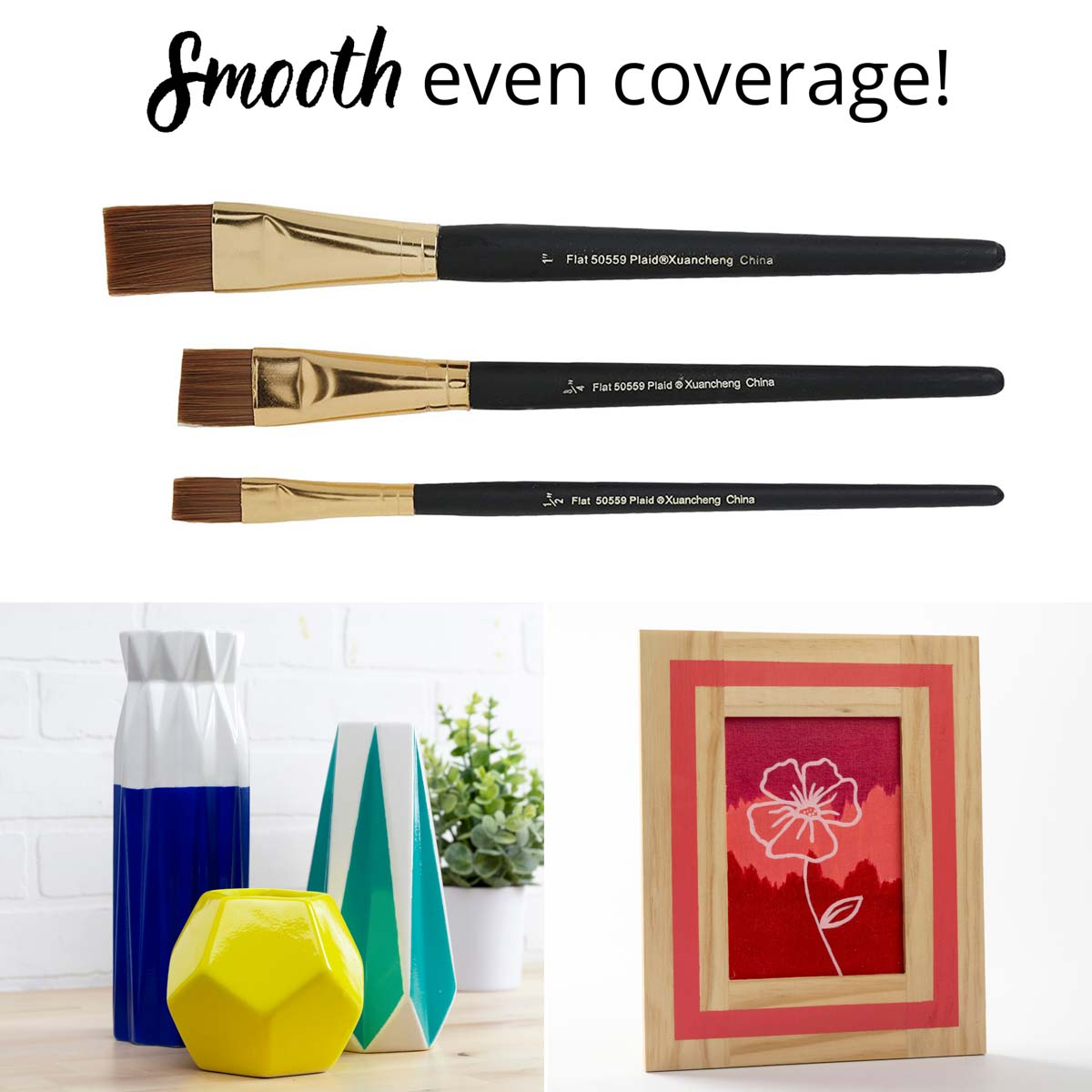 Folkart ® Brush Sets - Gold Taklon Set, 3 pc. - 50559