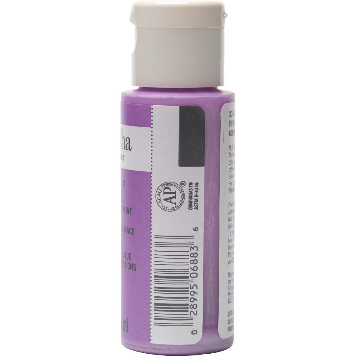 Martha Stewart ® Multi-Surface Pearl Acrylic Craft Paint - Purple Gerberra, 2 oz. - 33518CA
