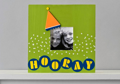 Handmade Charlotte Hooray For Birthdays Photo Frame