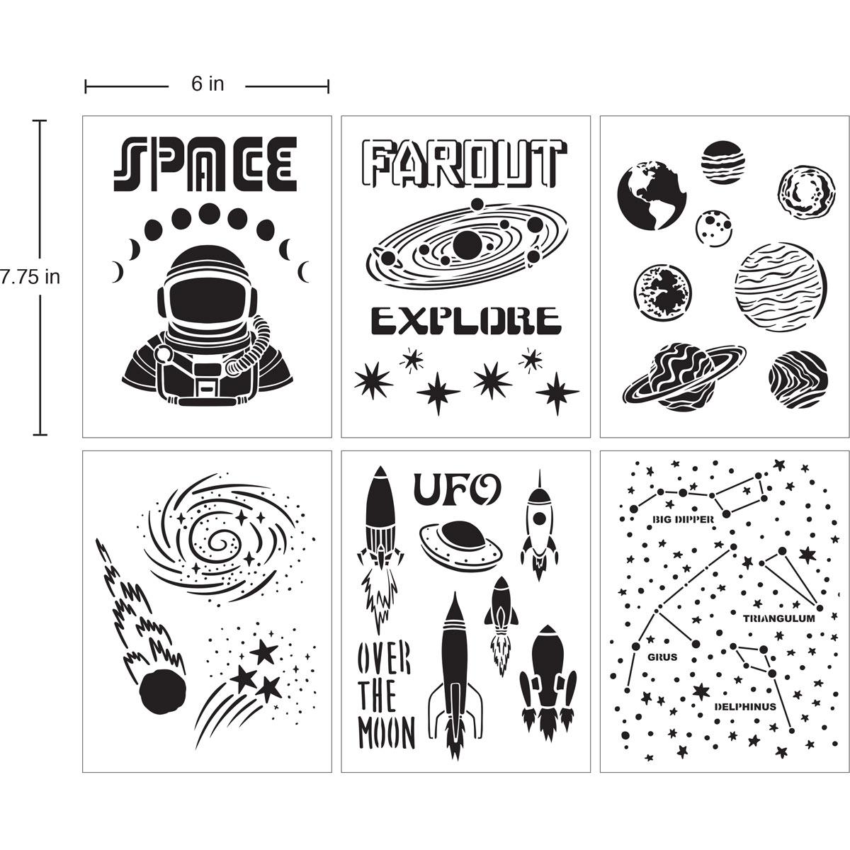 Delta Creative™ Stencil - Space - 04847