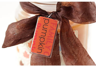 Pumpkin Candle Hostess Gift with Mod Podge