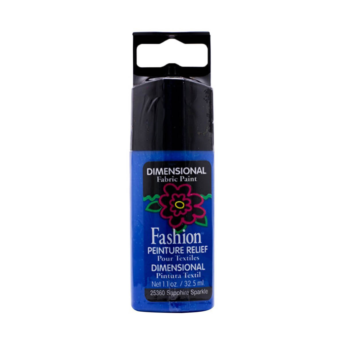 Fashion ® Dimensional Fabric Paint  - Sparkle - Sapphire - 25360