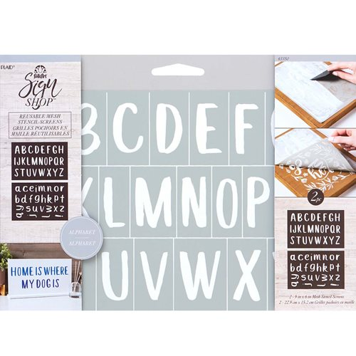 FolkArt ® Sign Shop™ Mesh Stencil - San Serif Letter Set, 2 pc. - 63350