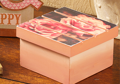 Pallet Box DIY with Mod Podge