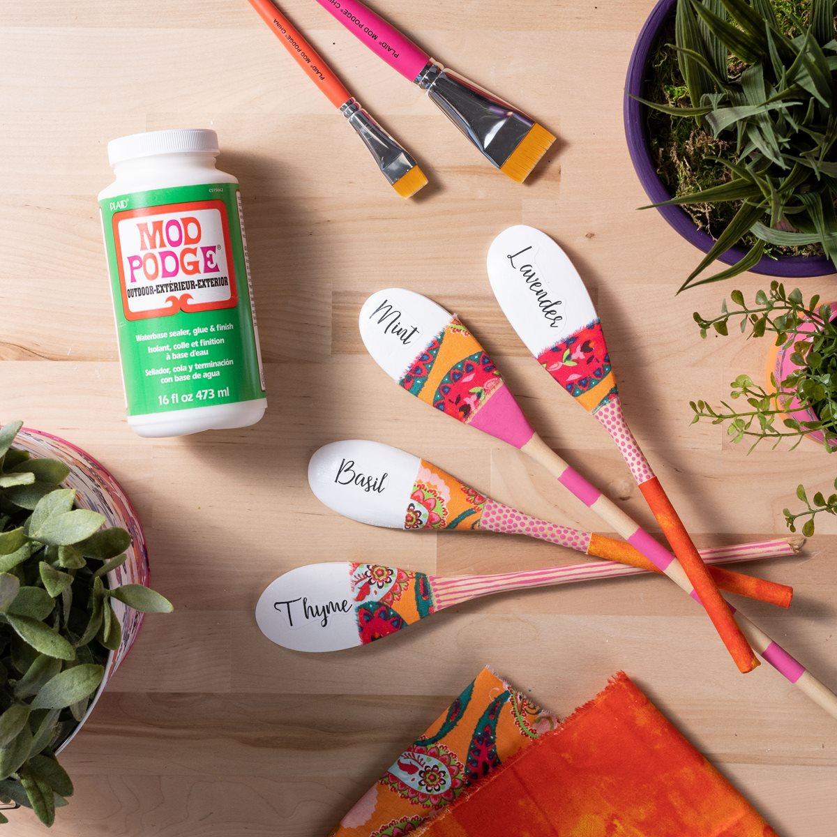 Mod Podge Garden Markers