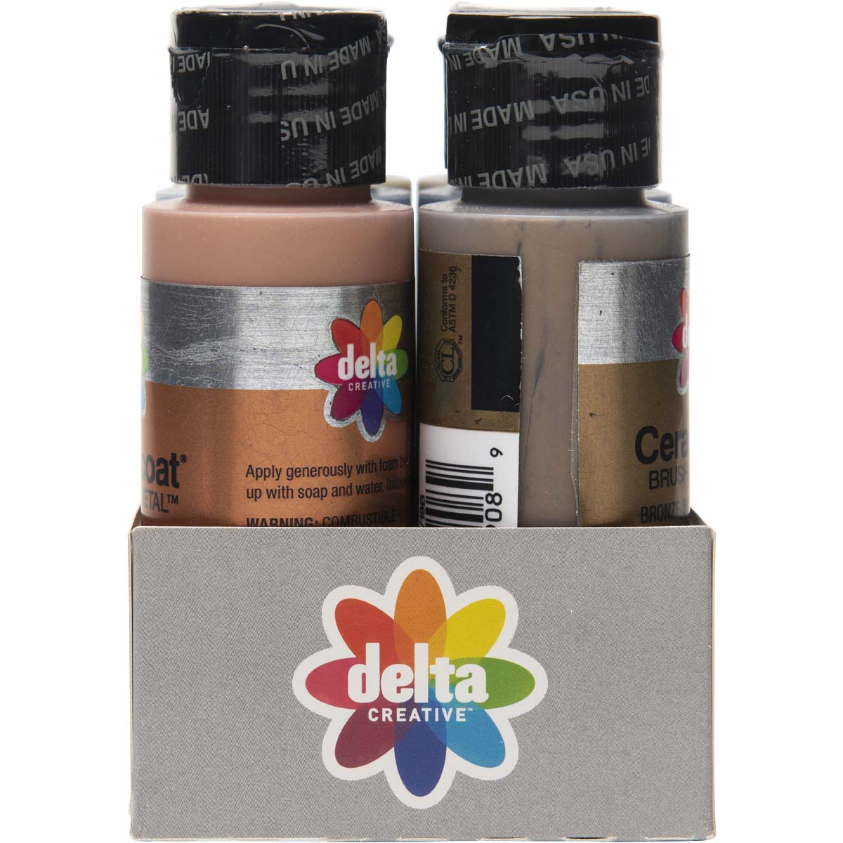 Delta Ceramcoat ® Paint Sets - Brushed Metal™, 6 Colors - 03148