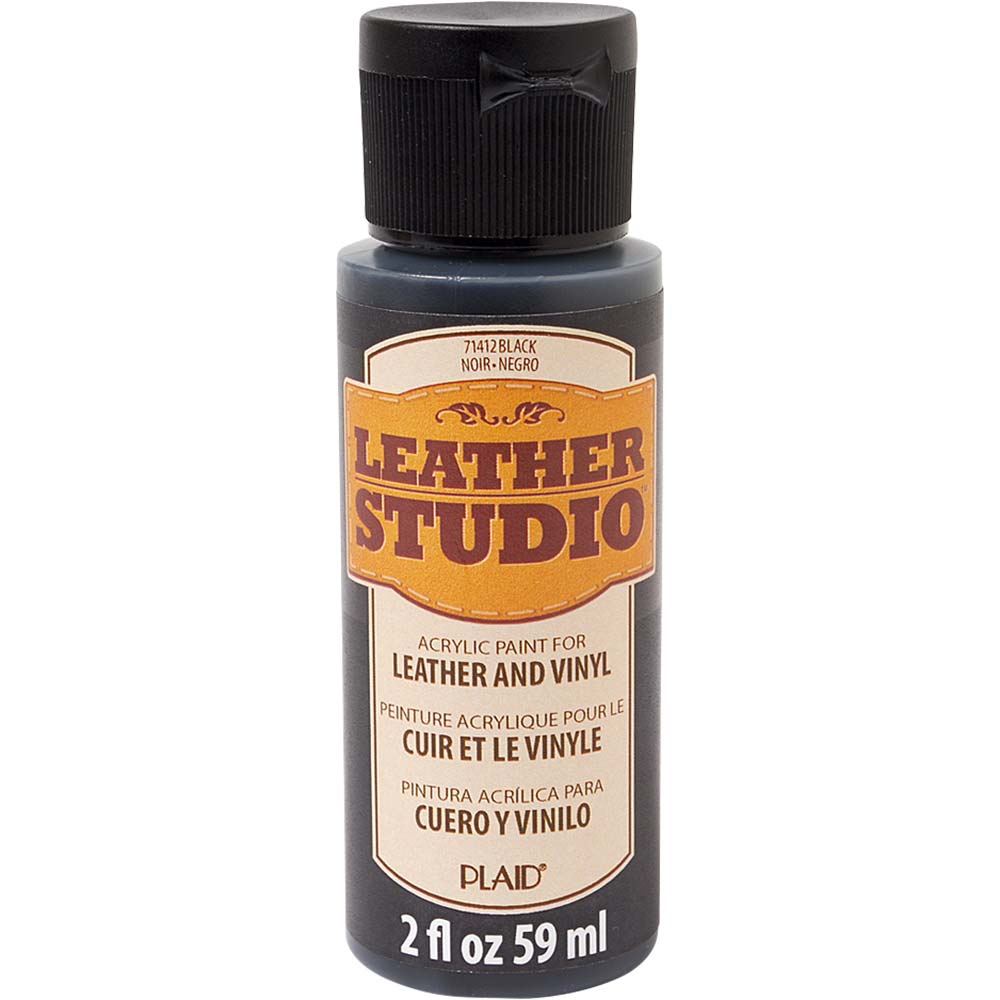 Leather Studio™ Leather & Vinyl Paint Colors - Black, 2 oz. - 71412