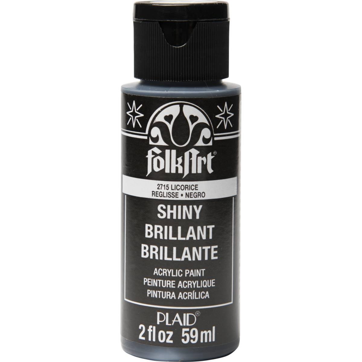 FolkArt ® Shiny™ Acrylic Paint - Licorice, 2 oz. - 2715