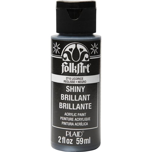 FolkArt ® Shiny™ Acrylic Paint - Licorice, 2 oz.