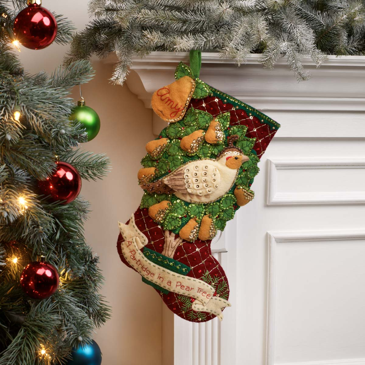 Bucilla ® Seasonal - Felt - Stocking Kits - Partridge in a Pear Tree - 89445E