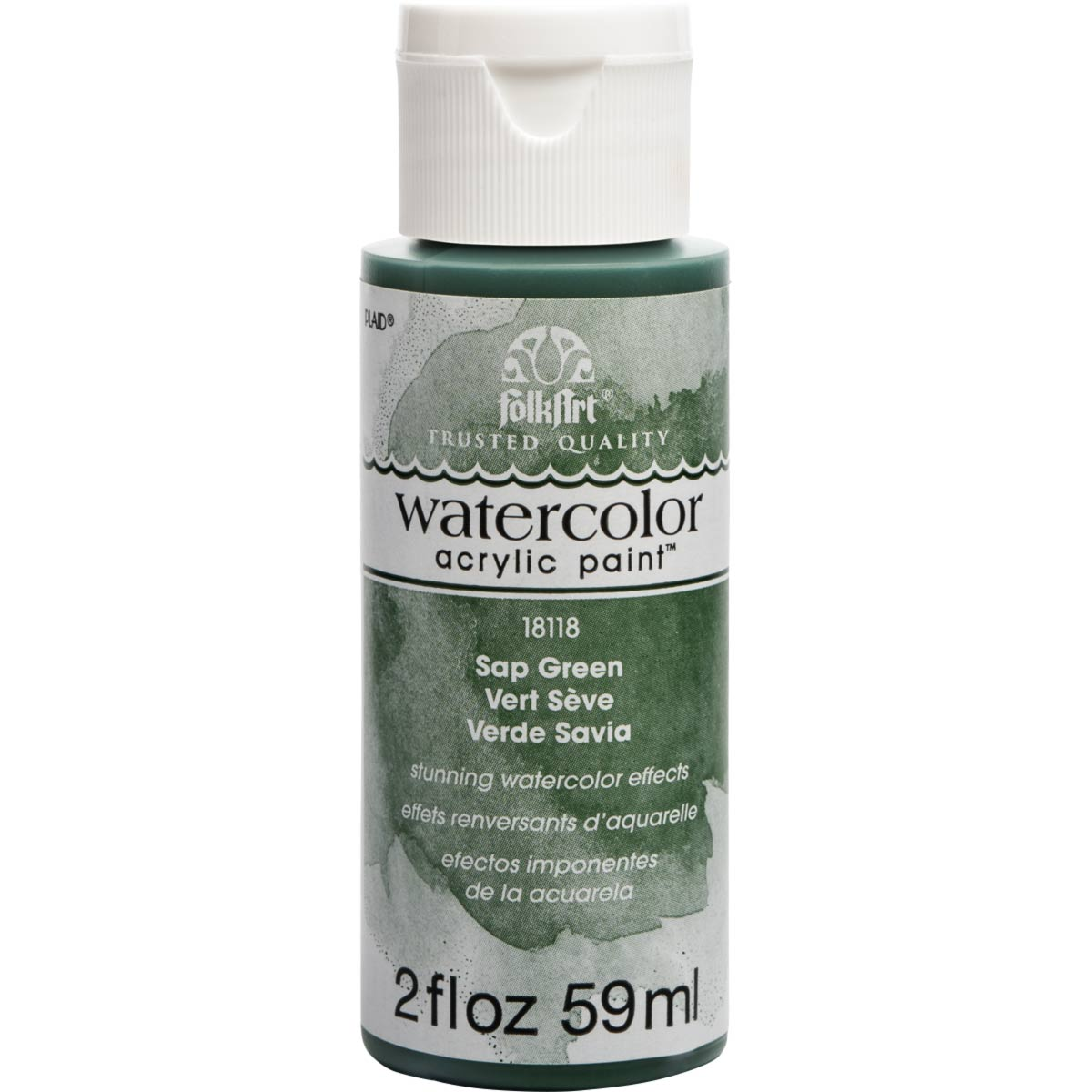FolkArt ® Watercolor Acrylic Paint™ - Sap Green, 2 oz.