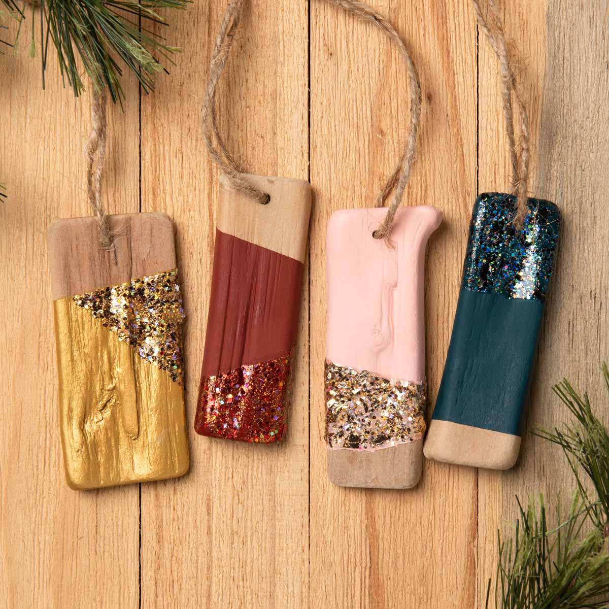 Rustic Glitterific Ornaments