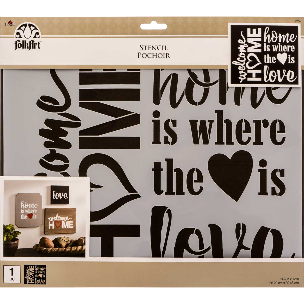 FolkArt ® Painting Stencils - Sign Making - Welcome Home
