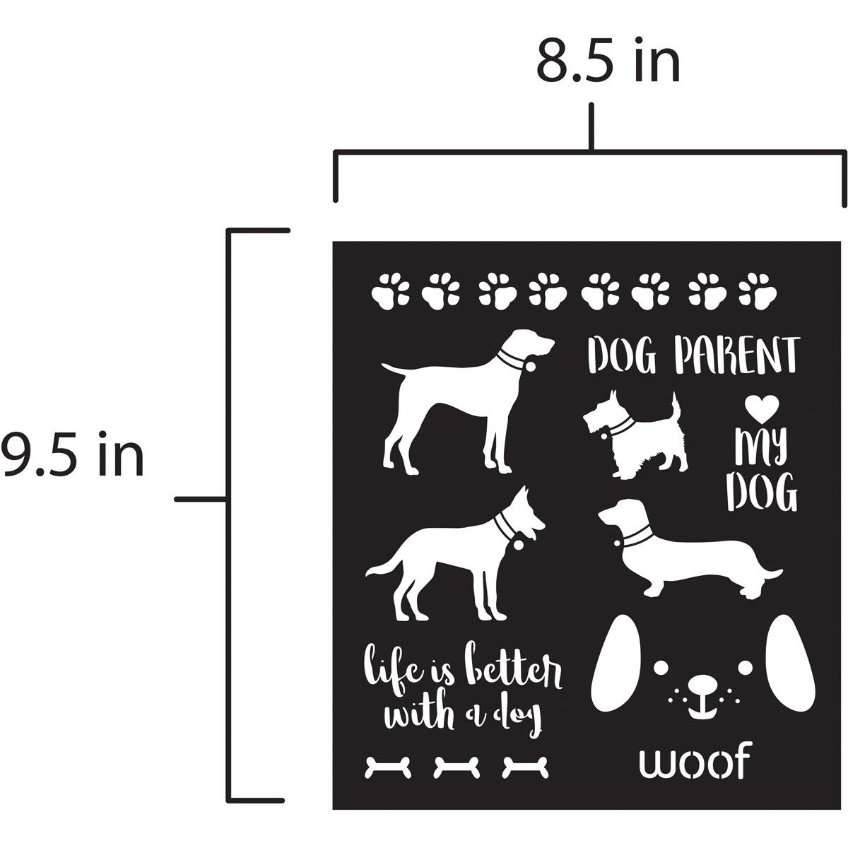 FolkArt ® Laser Cut Adhesive Stencils - Dogs - 39239