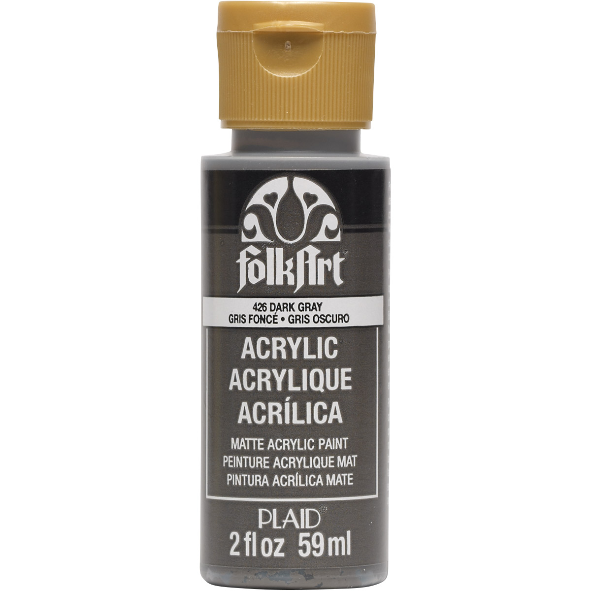 FolkArt ® Acrylic Colors - Dark Gray, 2 oz. - 426