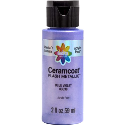 Delta Ceramcoat ® Acrylic Paint - Flash Metallic Blue Violet, 2 oz. - 03038