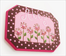 Painted Daisy Name Plaque