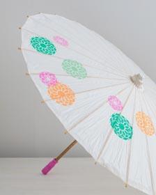 Stenciled Summer Parasol
