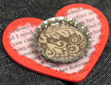 Heart Bottle Cap Pin