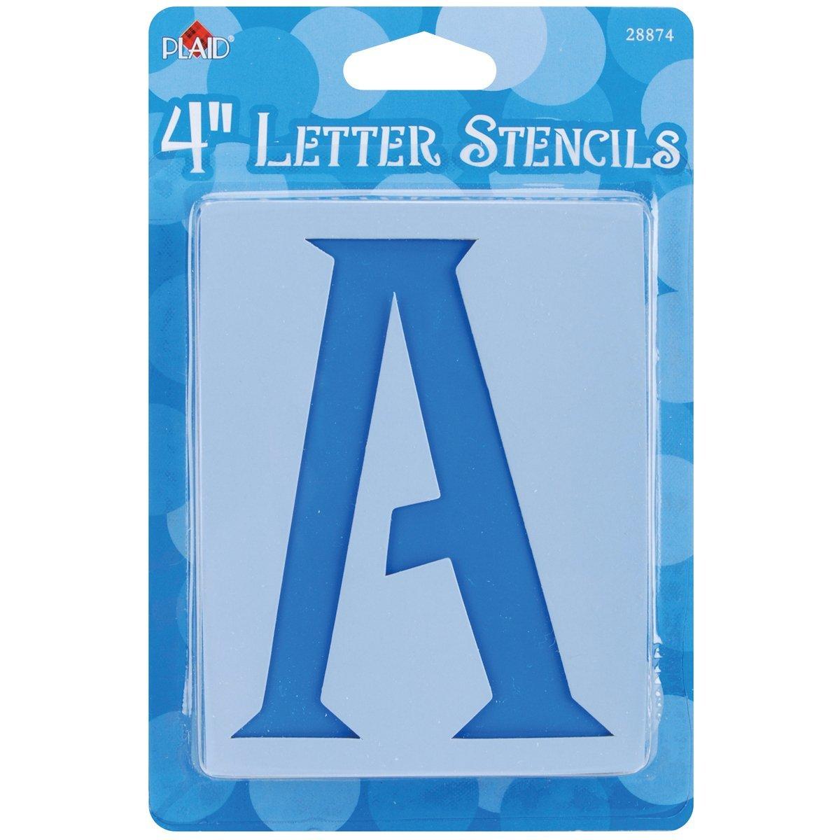 Plaid ® Stencils - Value Packs - Letter Stencils - Genie, 4