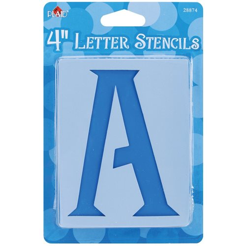 Plaid ® Stencils - Value Packs - Letter Stencils - Genie, 4""