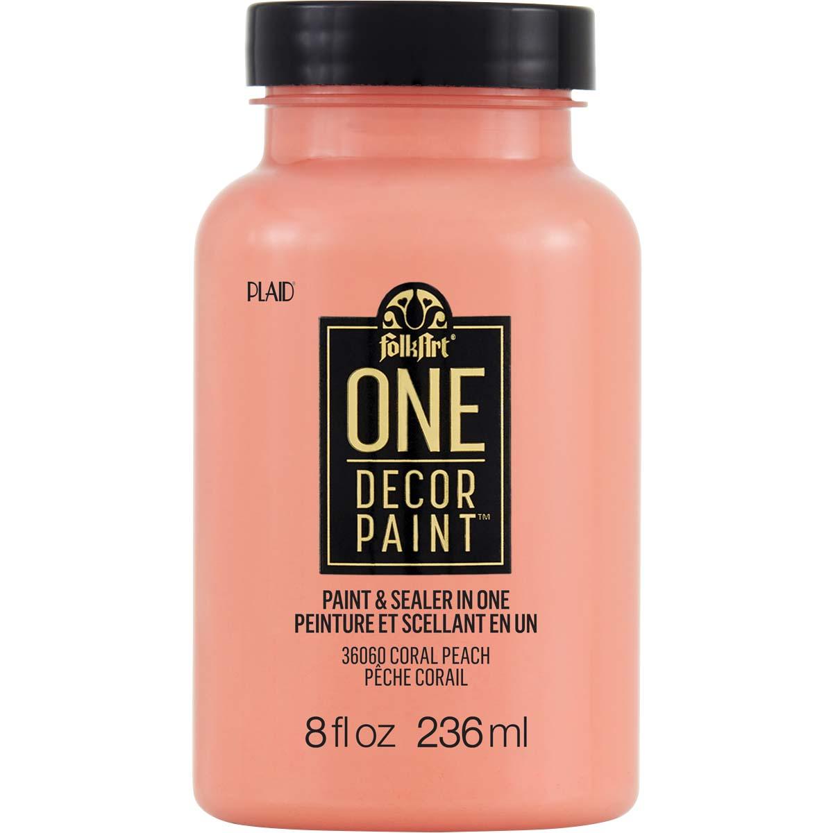 FolkArt ® One Décor Paint™ - Coral Peach, 8 oz. - 36060