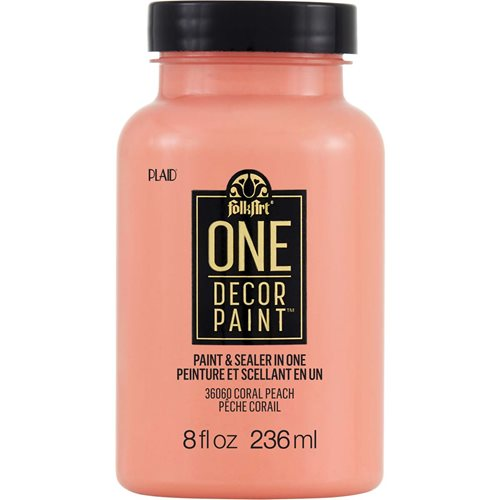 FolkArt ® One Décor Paint™ - Coral Peach, 8 oz. - 36060
