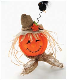 Styrofoam® Scarecrow Pumpkin