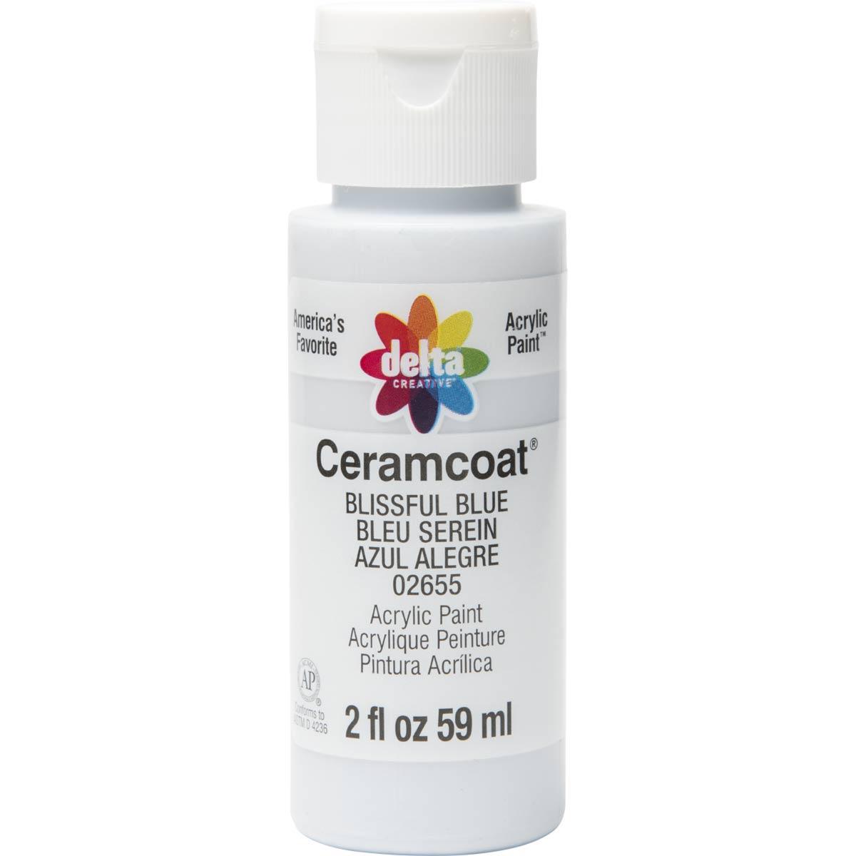 Delta Ceramcoat ® Acrylic Paint - Blissful Blue, 2 oz.