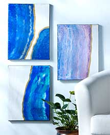 Acrylic Geode Canvas for Home Decor