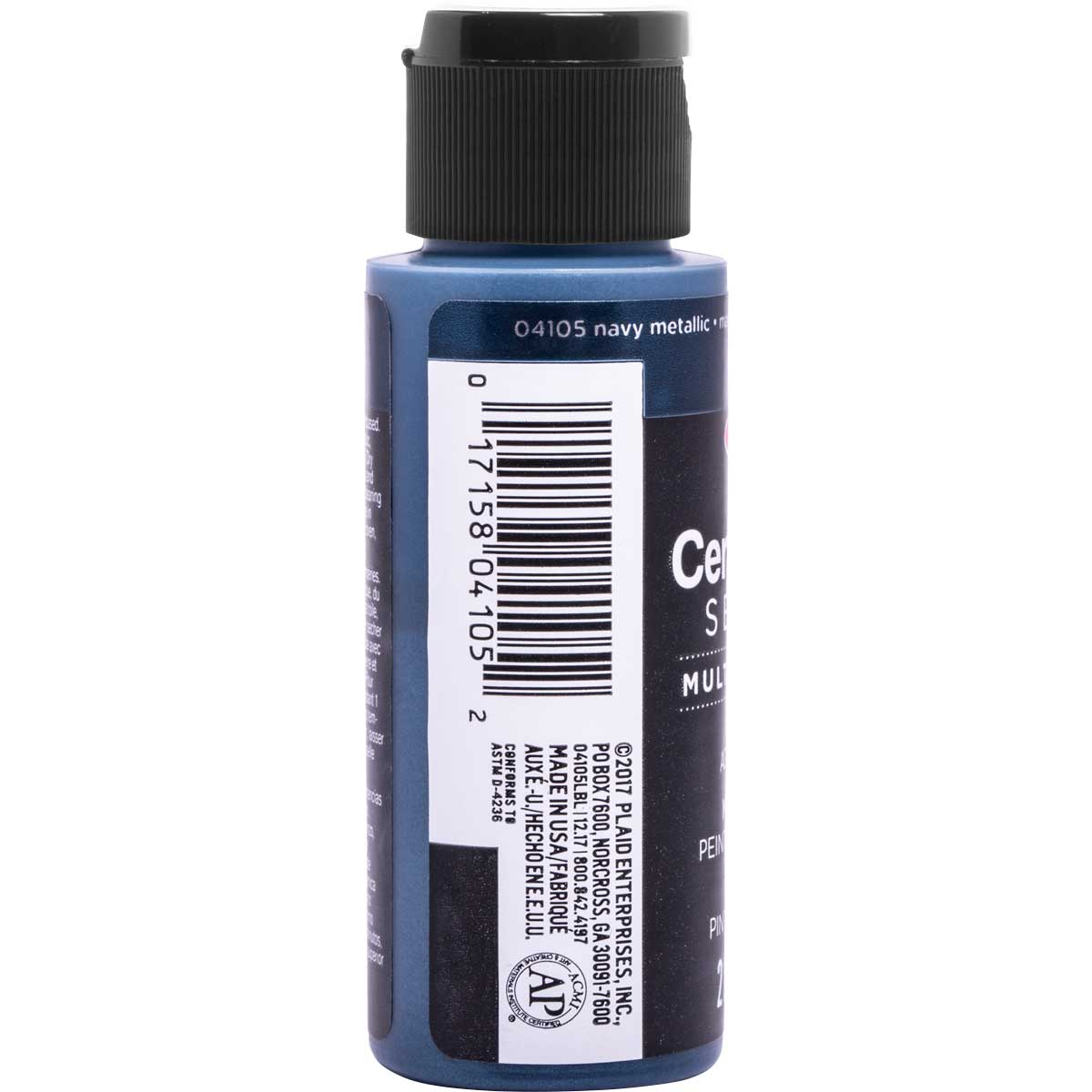 Delta Ceramcoat ® Select Multi-Surface Acrylic Paint - Metallic - Navy, 2 oz. - 04105