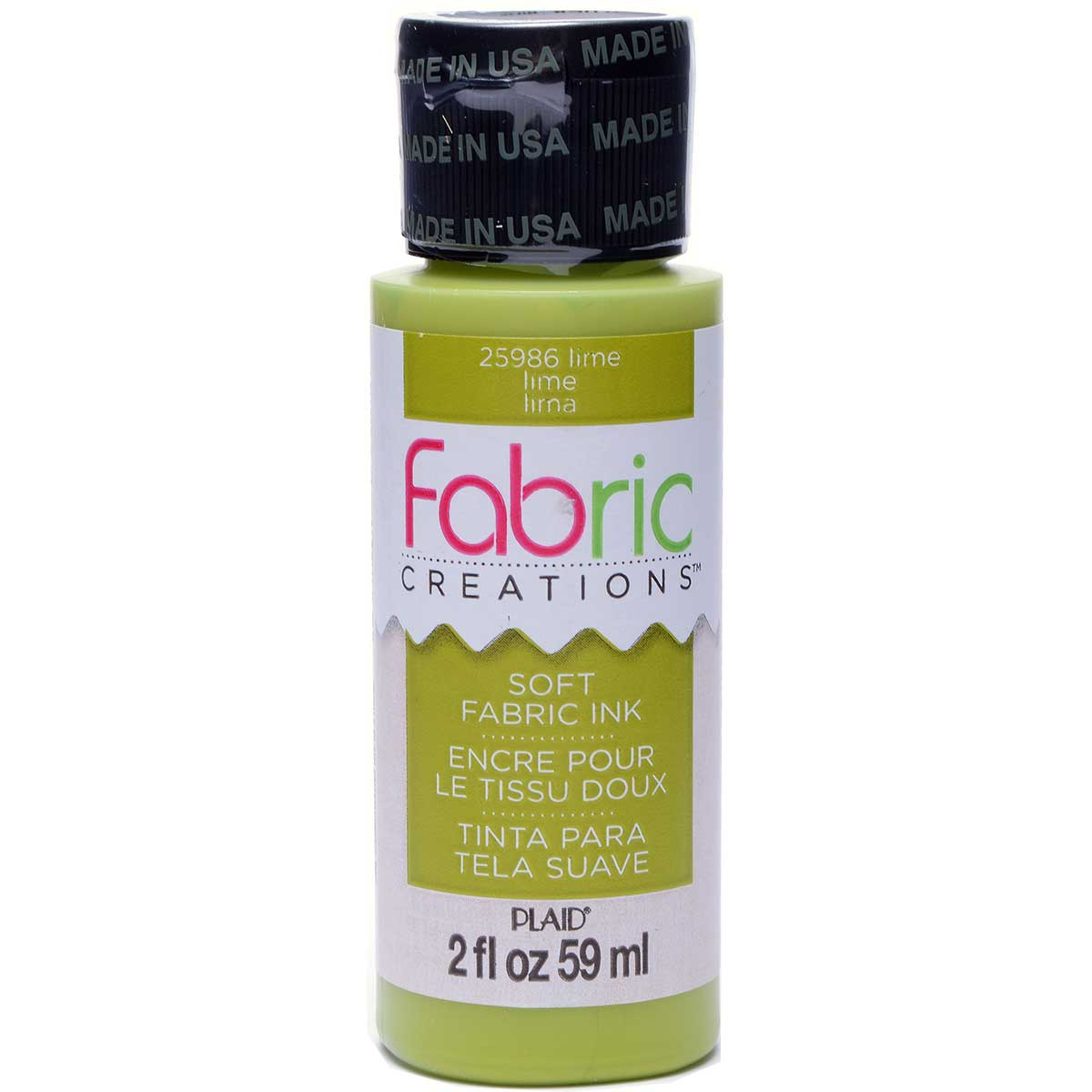 Fabric Creations™ Soft Fabric Inks - Lime, 2 oz. - 25986