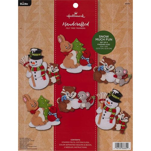 Bucilla Seasonal Felt - Hallmark Tree Trimmer Kits - Snow Much Fun
