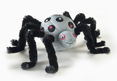 Apple Barrel Polka Dot Spider Pumpkin