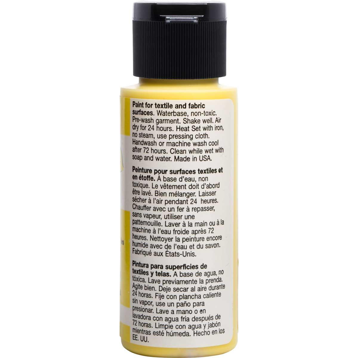 FolkArt ® Fabric™ Paint - Brush On - Yellow Light