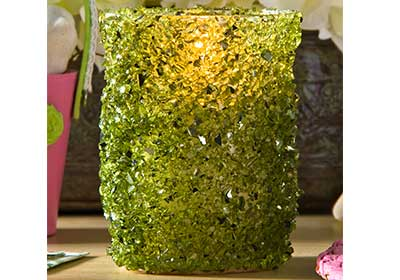 Crushed Glass Candleholder