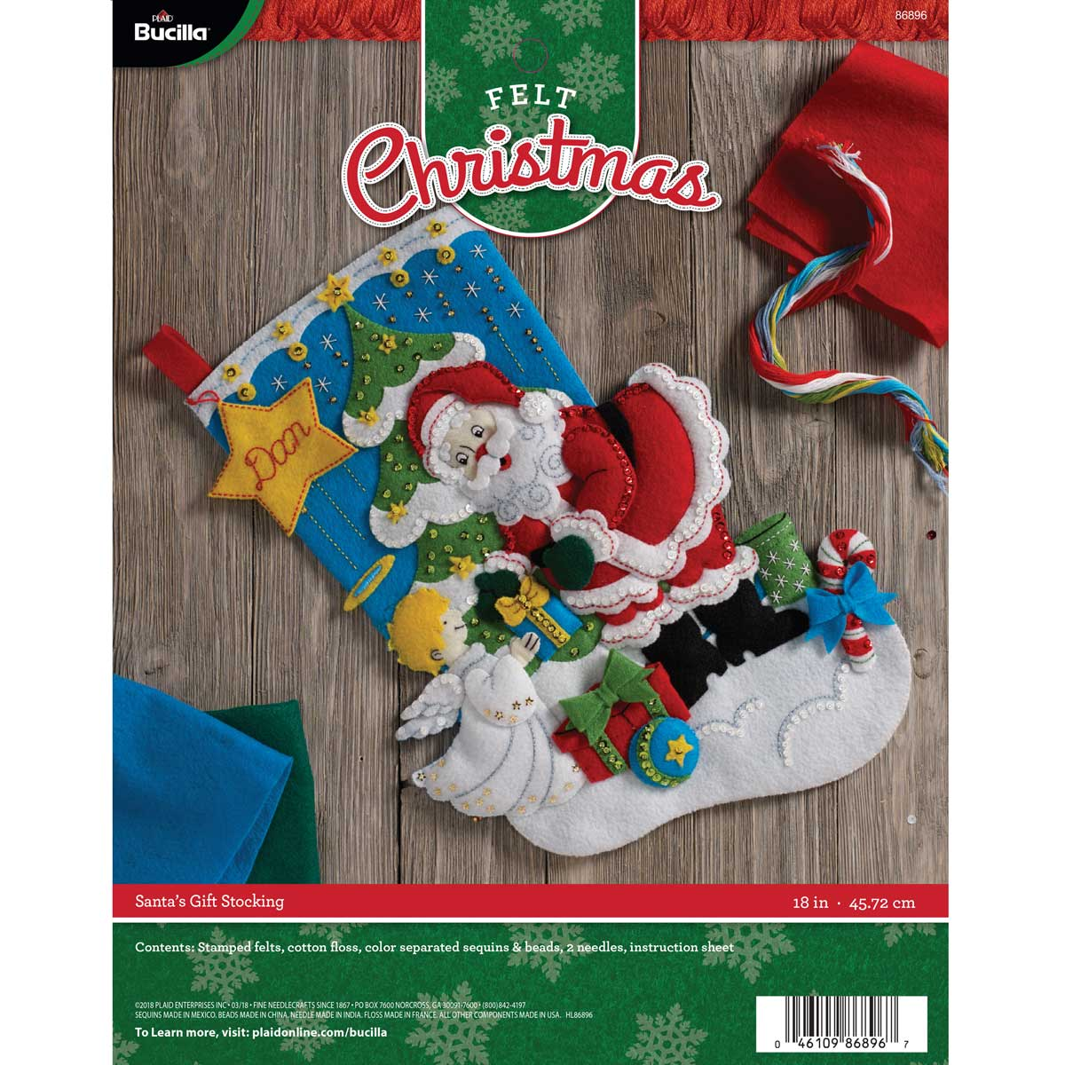 Bucilla ® Seasonal - Felt - Stocking Kits - Santa's Gifts