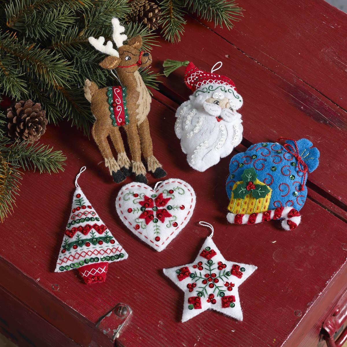 Bucilla ® Seasonal - Felt - Ornament Kits - Nordic Santa