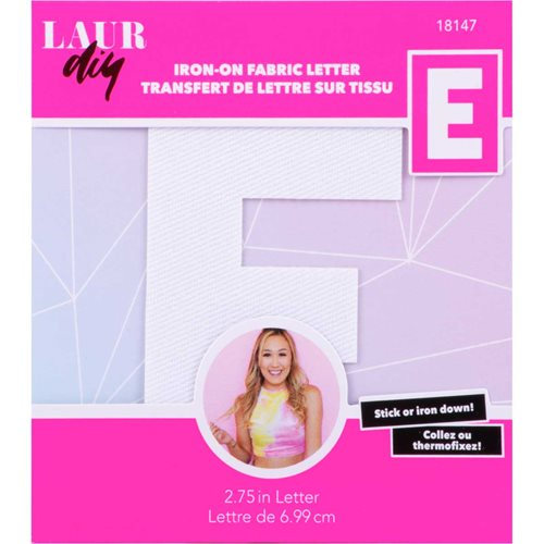 LaurDIY ® Iron-on Fabric Letters - E