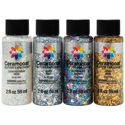 Delta Ceramcoat ® Paint Sets - Glitter Explosion™ - 4 Color Set - PROMOGLTRE