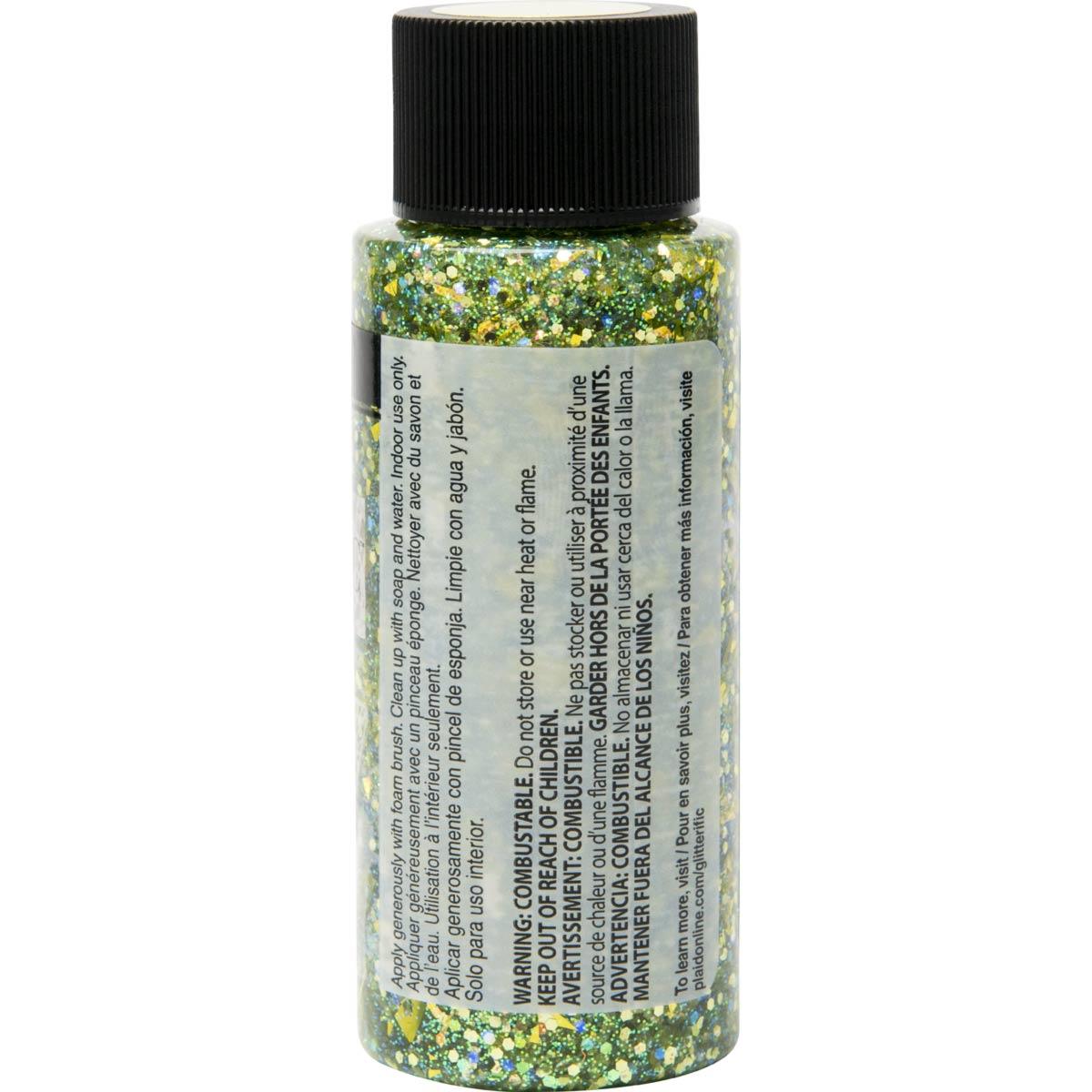 FolkArt ® Glitterific™ Acrylic Paint - Green, 2 oz.