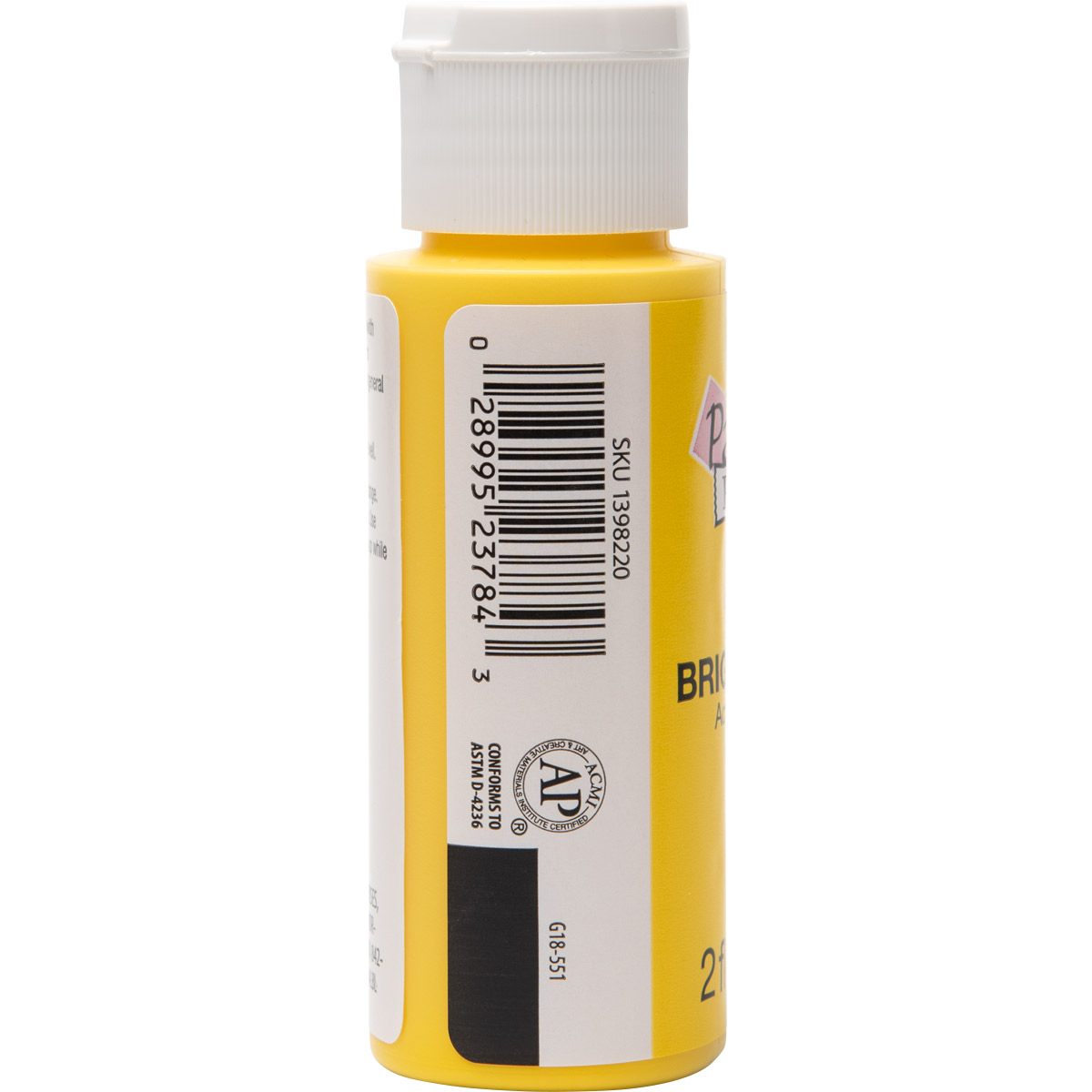 Plaid ® Painter's Palette™ Acrylic Paint - Bright Yellow, 2 oz. - 23784