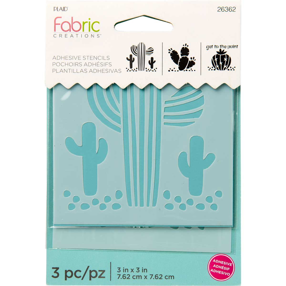 Fabric Creations™ Adhesive Stencils - Mini - Cactus, 3