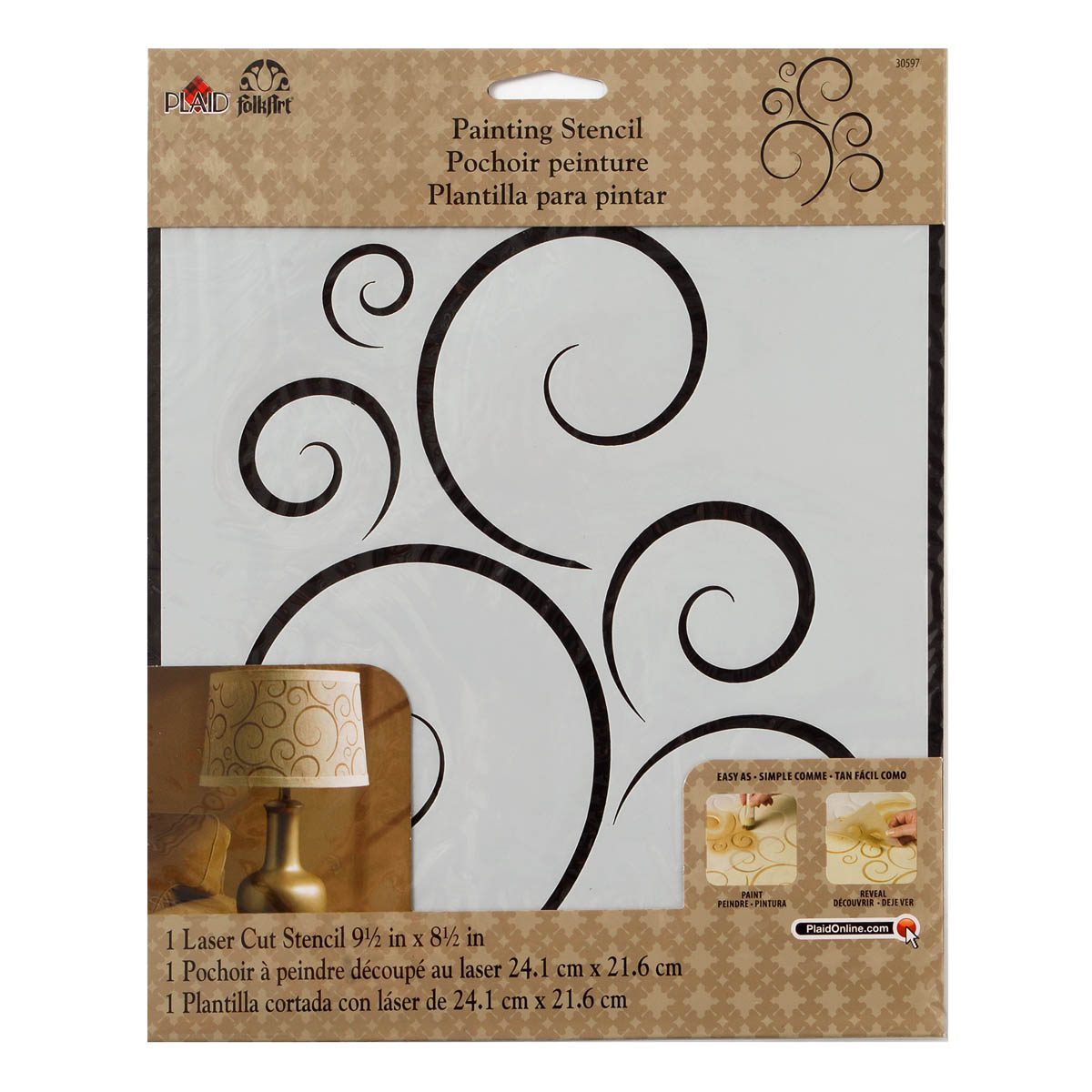 FolkArt ® Painting Stencils - Large - Simply Scroll - 30597