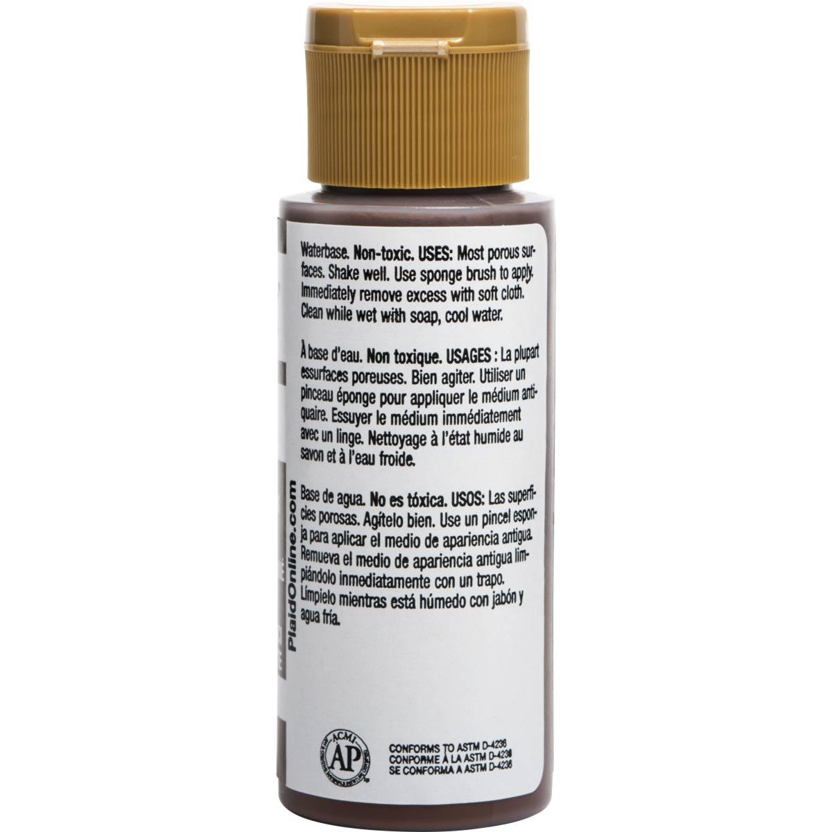 FolkArt ® Mediums - Antiquing Medium - Cocoa Bean, 2 oz.
