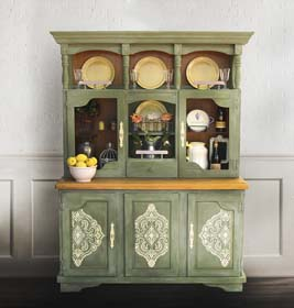 Furniture Refinishing Idea - French Country Dining Hutch
