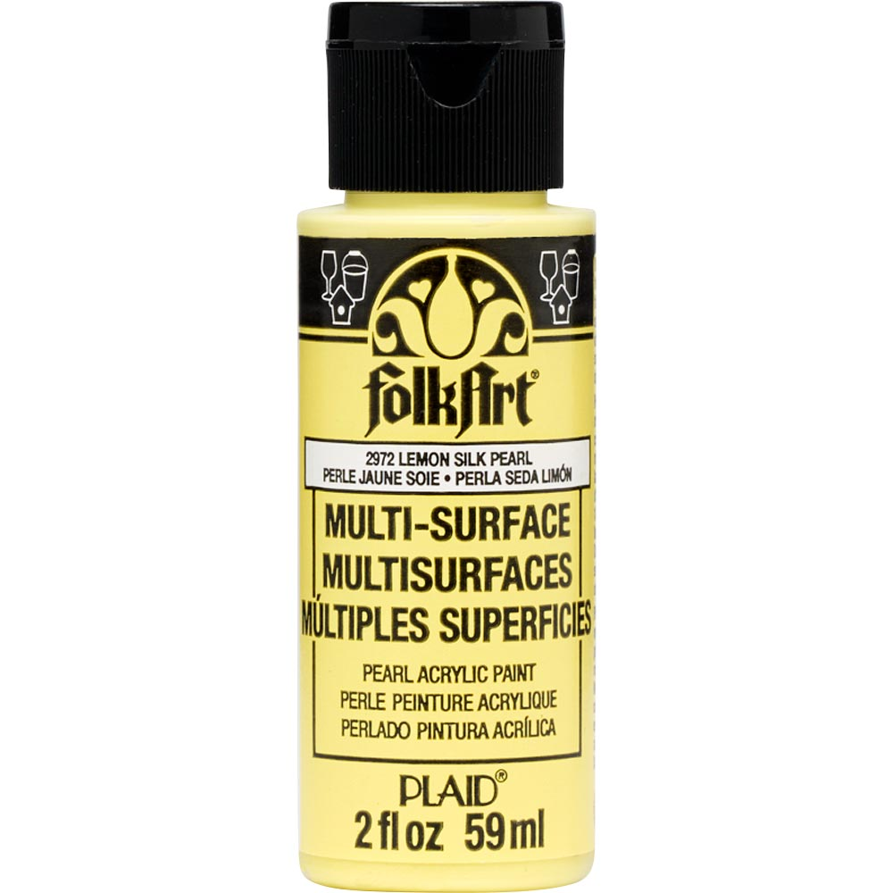 FolkArt ® Multi-Surface Pearl Acrylic Paints - Lemon Silk, 2 oz.