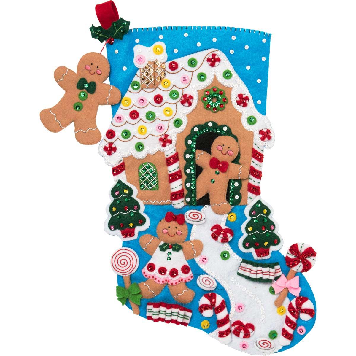 Bucilla ® Seasonal - Felt - Stocking Kits - Gingerbread Dreams - 86898E